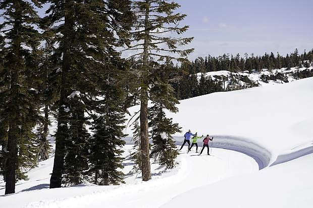 Skate skiers test out Royal Gorge Cross Country Resort.