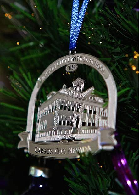The annual Carson City Christmas ornament is available now at the Purple Avocado on N. Curry St. as seen here on Wednesday.