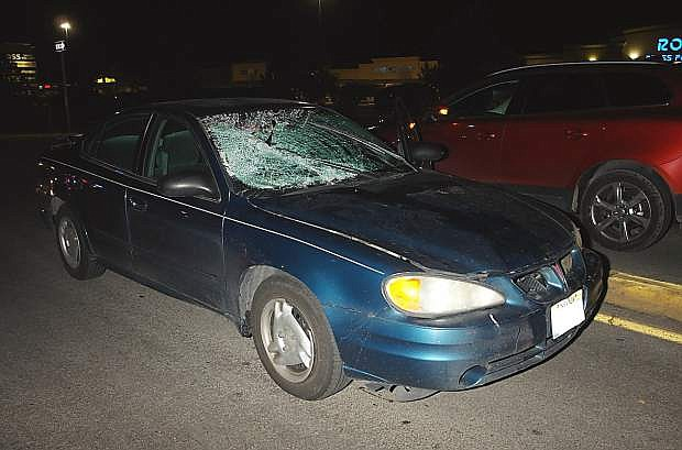 A car driven by a Fallon woman struck and killed a pedestrain Wednesday night in Sparks.