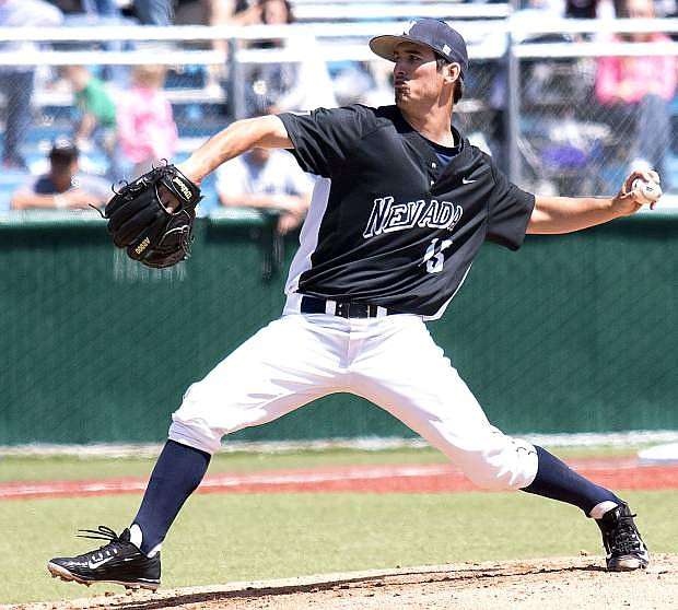 Pitcher Cameron Rowland and the Nevada baseball team won the school's first-ever Mountain West title on Sunday with a win over New Mexico.