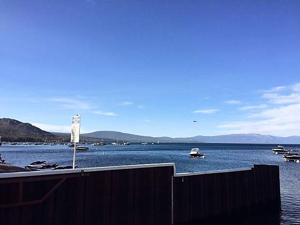 The view of Lake Tahoe's West Shore on Friday afternoon from Obexer's Boat Company.