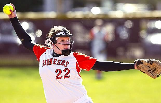 Lewis and Clark pitcher Jill Pinder, a Fallon grad, resumed her softball career this season after a mysterious ailment last year.