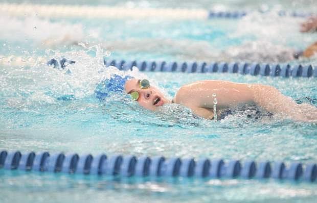 Kaitlyn McDonald, 100 freestyle.