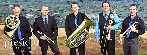 The Carson Valley Arts Council will present Presidio Brass at 6 p.m. April 11 at the CVIC Hall in Minden.