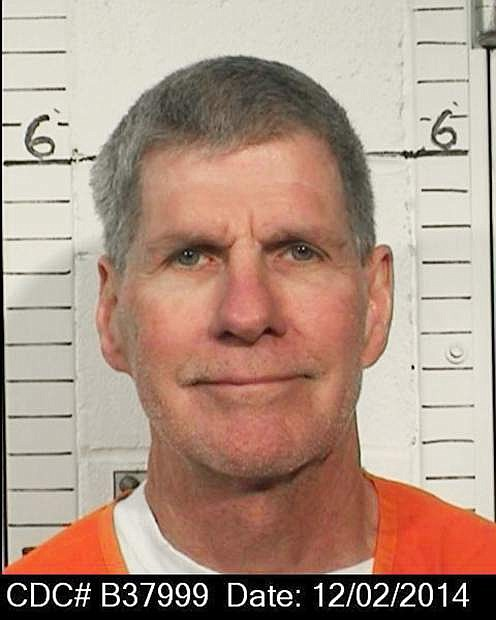 """This Dec. 2, 2014 photo provided by the California Department of Corrections and Rehabilitation shows Charles """"Tex"""" Watson. California officials are considering whether the self-described right-hand man of murderous cult leader Charles Manson should be released from prison. The parole hearing on Thursday, Oct. 27, 2016 came 47 years after Manson orchestrated the killings of pregnant actress Sharon Tate and six other people in California. (California Department of Corrections and Rehabilitation via AP)"""