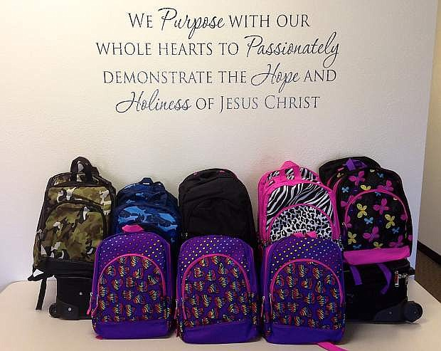 Good Shepherd Wesleyan Church, 1505 Railroad Dr., recently partnered with CASA of Carson City and Division of Child and Family Services to supply backpacks to foster children.