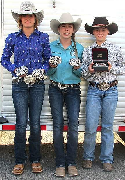 Fallon Rodeo Club members Ashley Puccetti-Price, Chloe Lambert and Jayden Jensen all qualified for the National Junior High School Rodeo in June.