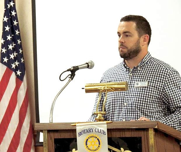 Danny Rotter of Carson City Public Works talks during Rotary Tuesday at the Carson Nugget.