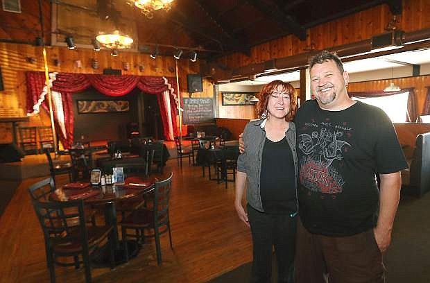 Sassafras Eclectic Food Joint owners Jayme Watts and Tony Fish pose in their dining room in Carson City on July 13. After several years in downtown Carson City, they relocated to the Carson Hot Springs in early 2015.