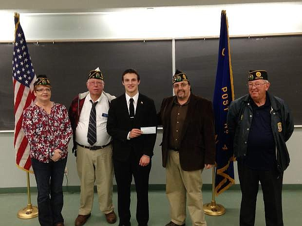 Carson High Speech and Debate captain Sawyer Barnett took first place in the second level of the American Legion speaking contest at Western Nevada College.