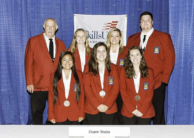 Jessica Basa, Amanda Breen and Sarah Christl were awarded the third place medal and the Skill Point Certificate in Chapter Display at the 2015 National SkillsUSA Championships in June.