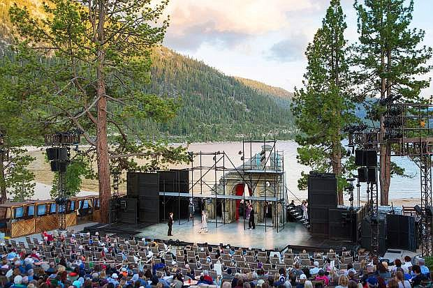 The cast performs during the 2015 Lake Tahoe Shakespeare Festival at Sand Harbor.