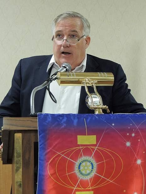 John Shelton, BAC executive director, speaks at Carson City Rotary Club on Tuesday.