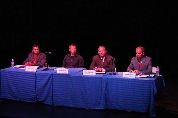 Carson City Sheriff's candidates meet the public downtown Wednesday night.