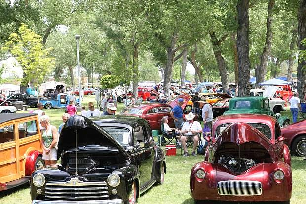 Hundreds of classic vehicles are shown here on display at Mills Park Saturday fo the Silver Dollar Car Classic.