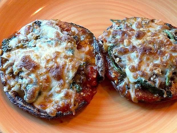 Portobello mushroom pizzas are easy, low-cal', versatile and delicious.