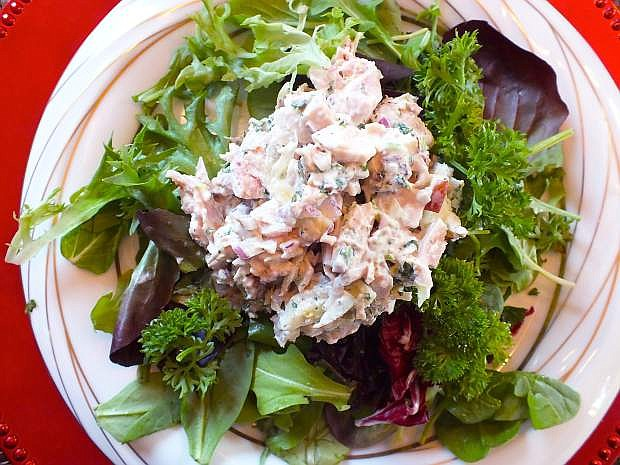 Turkey salad with apples and tarragon is a welcome departure from all those sugar plums.