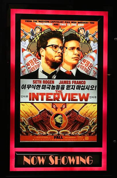 'The Interview' starring Seth Rogen and James Franco is showing at the Ironwood Cinema in Minden.