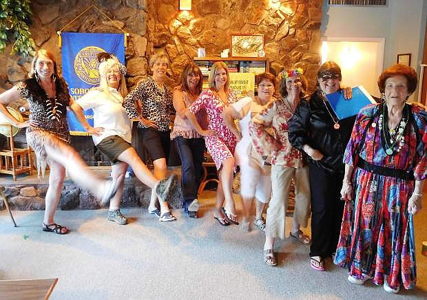 From the left are Ada White, Jean Bondiett, Karen Hoppe, Cynthia Bunt, Jennifer Rust, Charlene Spinner, Pat Riggs, Didi Chaney, and Arlene Gleich.