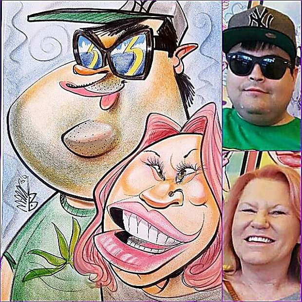 """Sketches by """"Aveti Arts""""  who will appear at the Nevada State Fair, taking place Thursday through Sunday at Mills Park"""