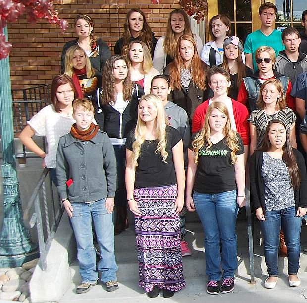 "The Churchill County High School choir sang ""Home Means Nevada"" last month when Nevada set a record for those singing the state song."
