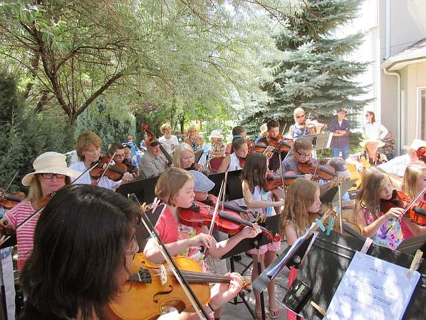 Strings in the Summer musicians perform at Sierra Place last July.