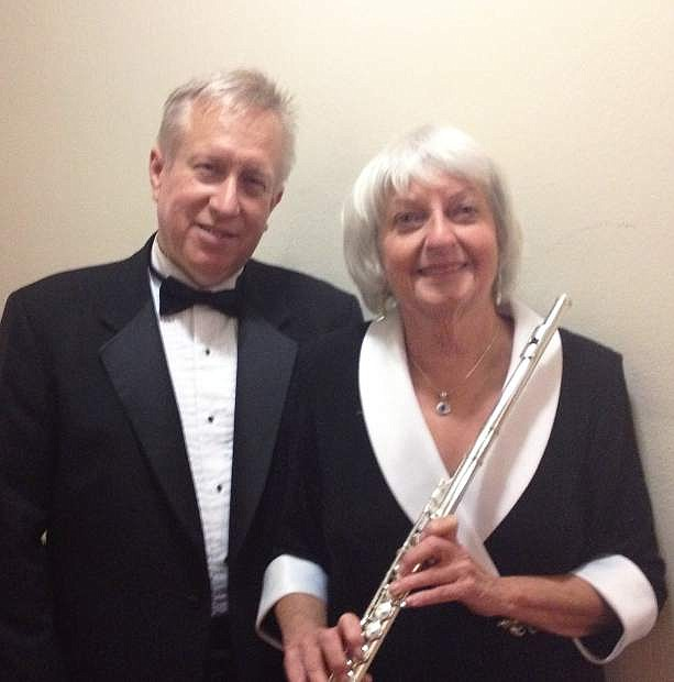 Flutist Sally Turk and harpist Michael Langham will solo with the Carson City Symphony April 26.
