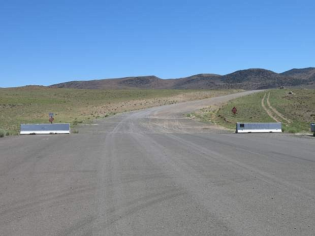 The current end of the road. USA Parkway could connect Lyon and Storey counties to the Tahoe-Reno Industrial Center in the near future.