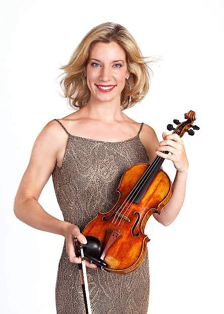 Elizabeth Pitcairn will be featured with the legendary Red Stradivarius violin in Tahoe Symphony Orchestra and Chorus' Paul Guttman concert series