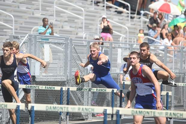 Carson's Dakota Baker advanced to the state meet in the 300 hurdles last year.