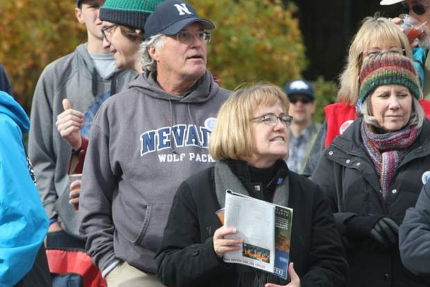 Mike and Susan Hoffman watch the Nevada Day parade on Saturday. It was Mike's 60th viewing of the parade.