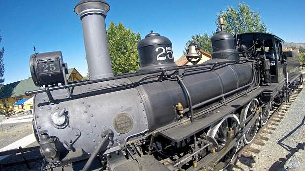 Old Number 25 chugs along the tracks Saturday at the Nevada State Railroad Museum. The museum in Carson City will offer train rides featuring the famous Virginia & Truckee Steam Locomotive No. 25 from 10 a.m. to 4 p.m. during Labor Day Weekend, September 5-7.