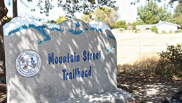 """Vintage at Kings Canyon trails will be accessible via this Mountain Street trailhead, currently called the """"trailhead to nowhere."""""""