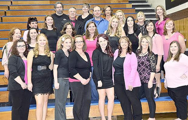 """Western Nevada College nursing students and professer Debbie Ingraffia-Strong. The second annual Carson CIty """"Dancing with the Stars"""" raised 14,000 for the students."""