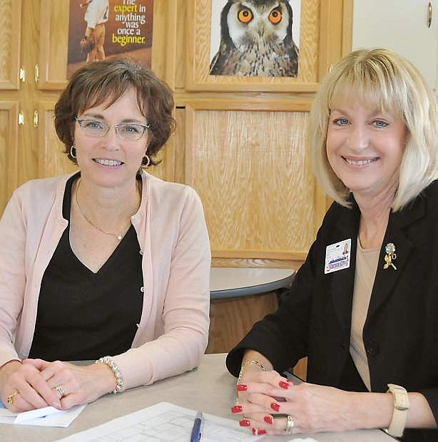 Susan Keema, assistant superintendent for Carson City School District, left, and Valerie Dockery, director of grants and special projects for Carson City School District.