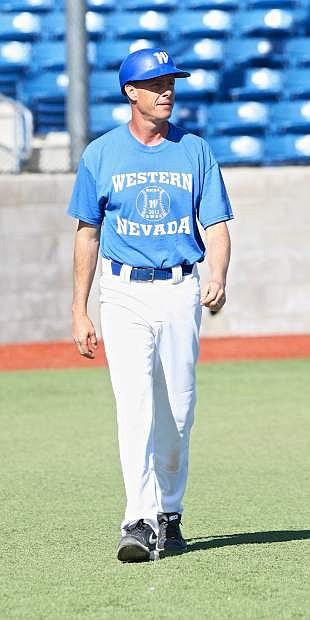 WNC Baseball coach D.J. Whittemore takes the field Thursday at John L. Harvey Field.