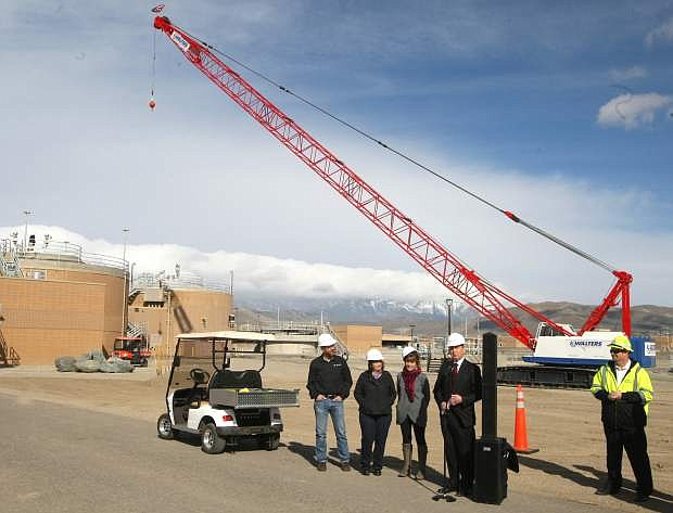 A groundbreaking ceremony was held at the Water Resource Recovery Facility on Monday morning.