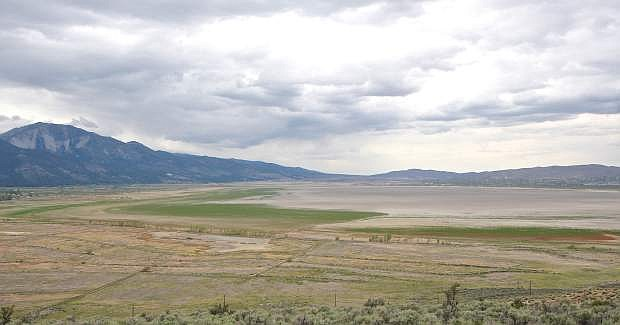Washoe Lake is dry as seen here Wednesday, May 13th, 2015.