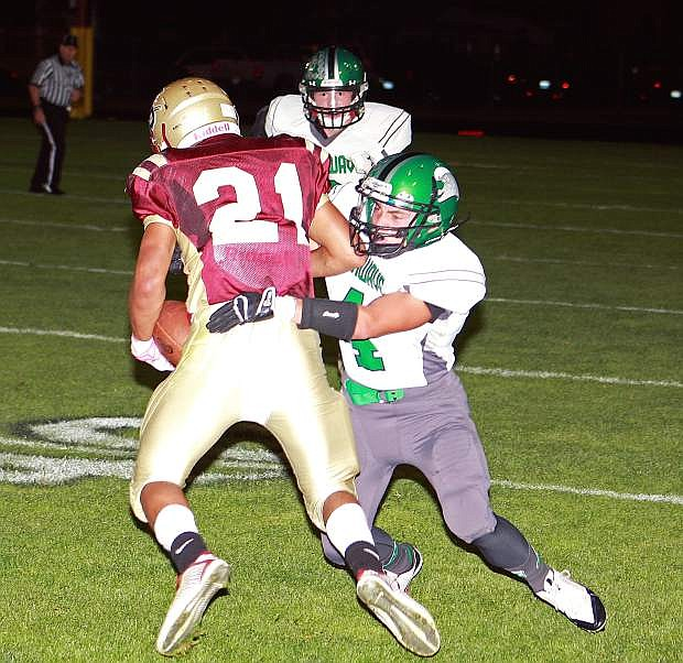 Fallon's Evan Bitter (4) and the Greenwave visit rival Fernley at 7 p.m. today in a Northern Division I-A game.
