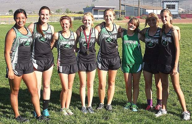 The Fallon girls cross country team placed second at the Dayton Invitational last week.