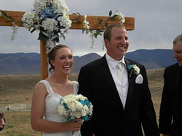 Kaitlyn Holmes, a 2012 graduate of Carson High School, and Danny Clark wed June 14 at a ranch in Hallelujah Junction, Calif.