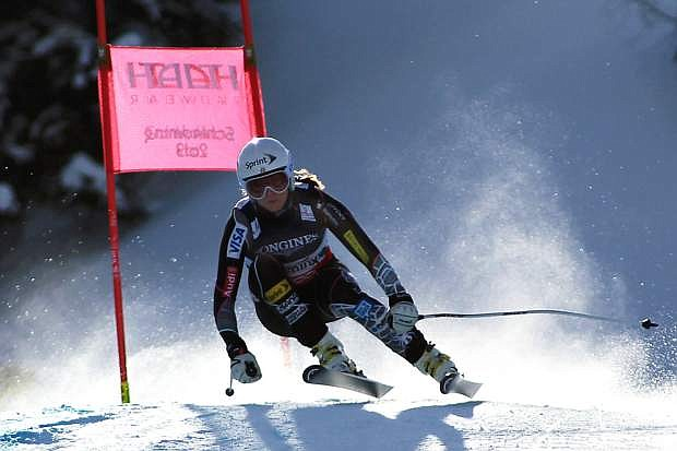 Julia Mancuso of Squaw Valley notched her season-best downhill result with a 13th-place finish in Austria on Saturday.
