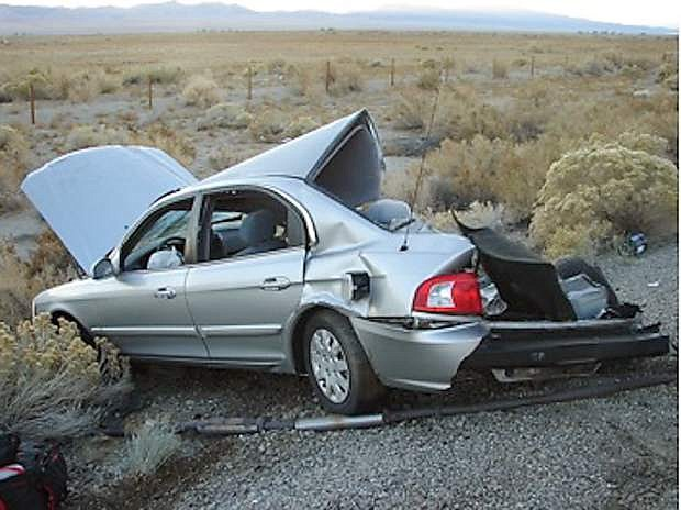 Two motorists including a man from Fallon were injured Nevada Day morning in Mineral County.