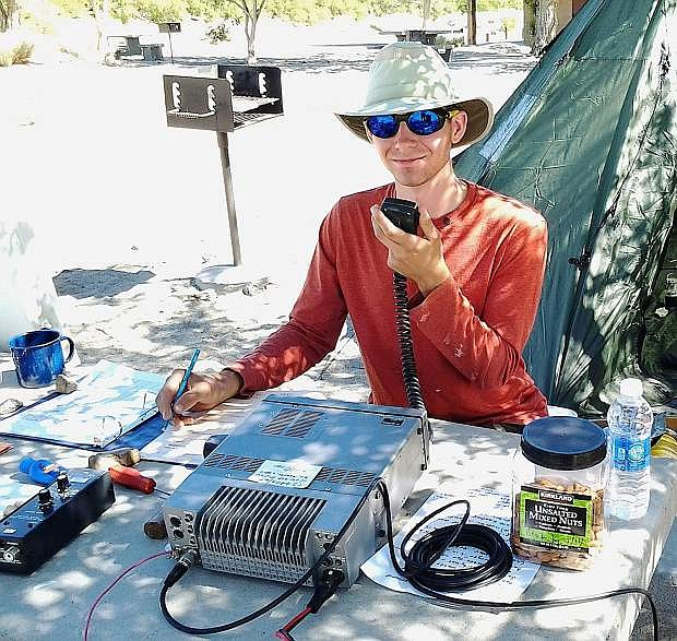 Bobby Clifford hones his skills in preparation for a nationwide amateur radio contest for operators.