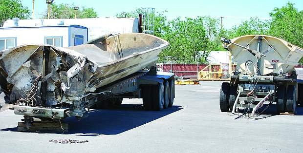 Two side cars from the Peterbilt tractor-trailer were stored in Fallon in 2011.