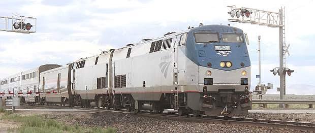 Amtrak's California Zephyr 5 heads west on June 12, 2016.