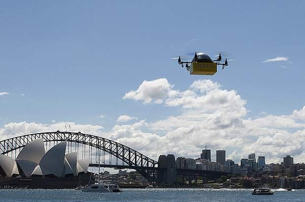 Australian-designed commercial UAVs are winging their way to the United States for high-tech testing at the University of Nevada, Reno as part of a new research and development partnership with a commercial delivery, unmanned-aerial-vehicle start-up company Flirtey, which conducted successful fully automated drone textbook-delivery tests in Sydney, Australia. .