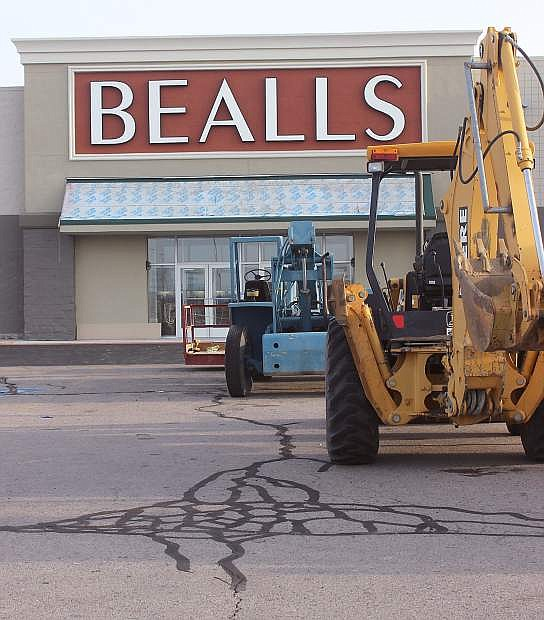 Work is nearing completion on Bealls, which is bringing Fallon shoppers a new department store on April 24. The store is located in the old Walmart building.