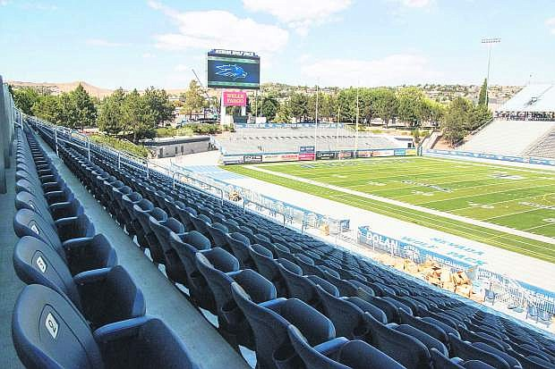 Sections of bleachers on the east side were replaced with chair-back seats in addition to a new scoreboard and replacement of the track, which went from red to silver during the renovation at Mackay Stadium.