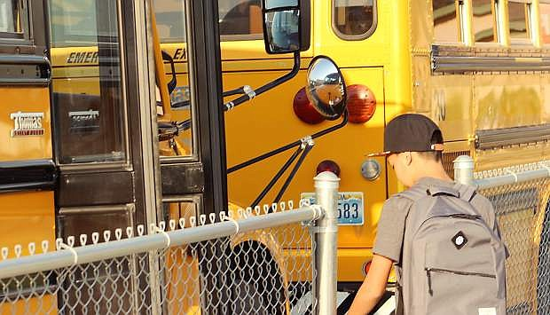 Churchill County School District experienced delays with bus transfers on the first day of school.
